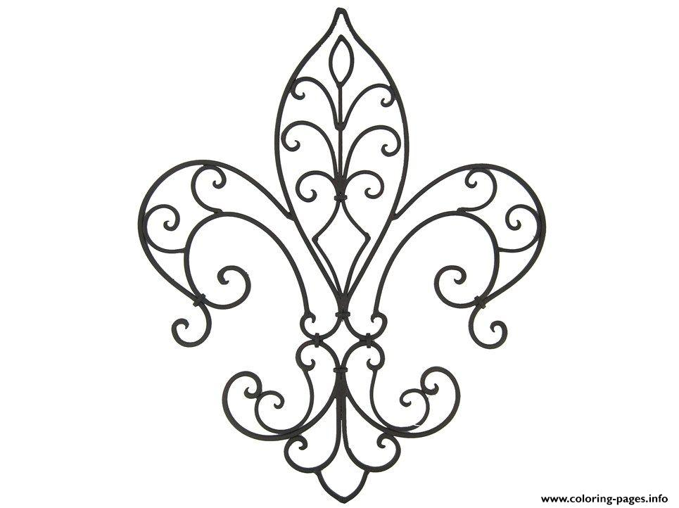 image relating to Fleur De Lis Printable identify Frilly Fleur De Lis Coloring Web pages Printable
