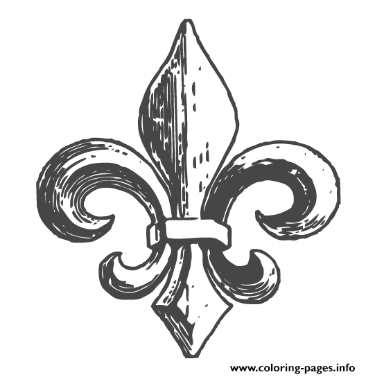 graphic relating to Fleur De Lis Printable referred to as Fleur De Lys Quebec Coloring Web pages Printable