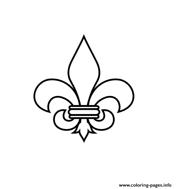 Fleur De Lis Quebec Coloring Pages Printable