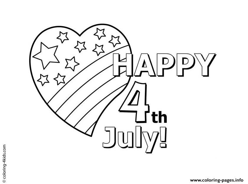 happy 4th july usa celebration coloring pages