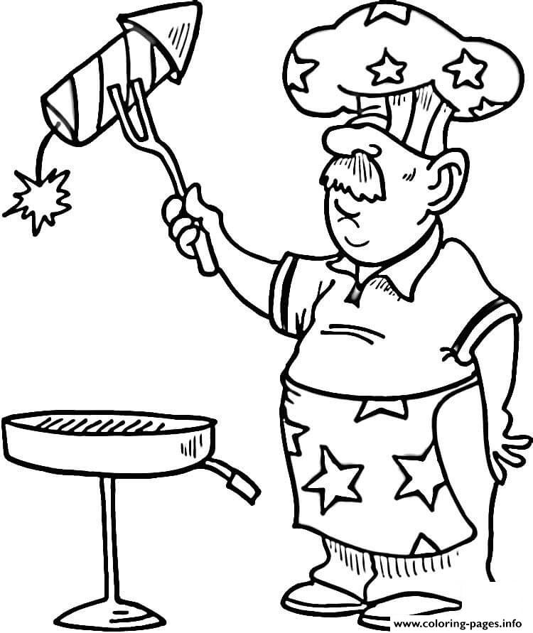Independence Day Bbq coloring pages
