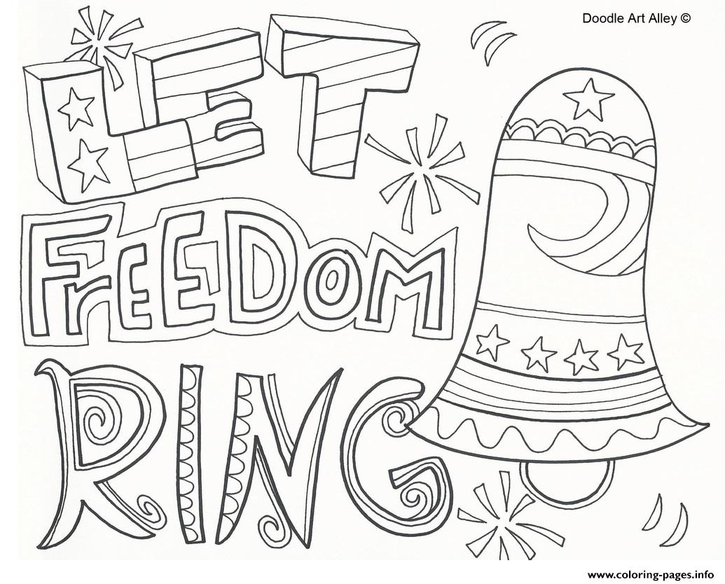 Let Freedom Ring 4th July Coloring