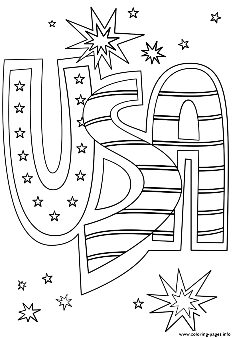 Usa Doodle coloring pages