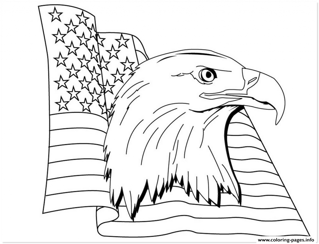 Get American Eagle Flag Coloring Pages Printable coloring pages