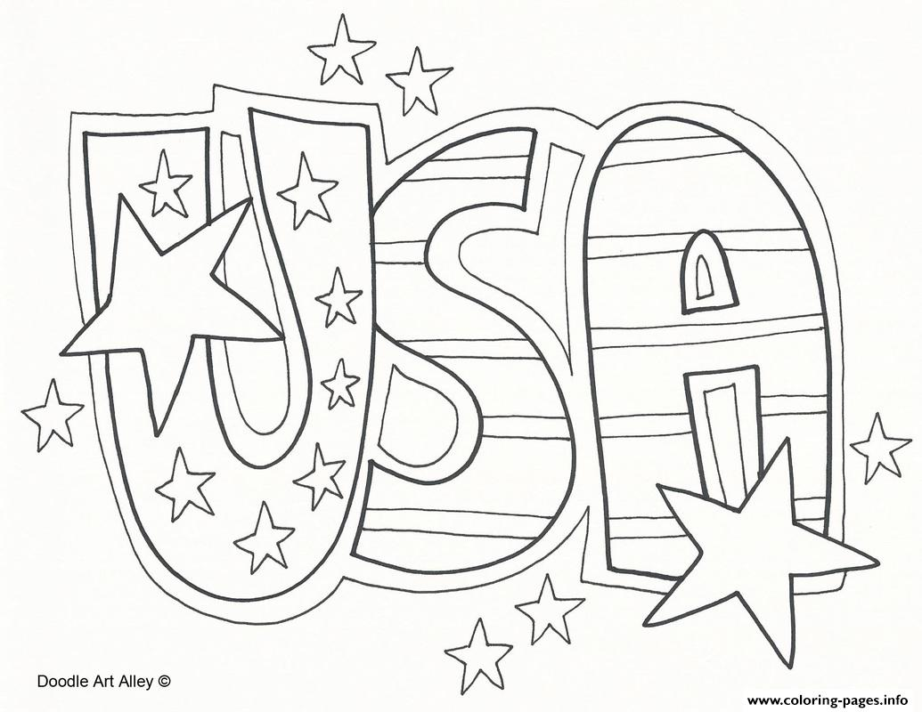 Usa Celebration 4th July Coloring
