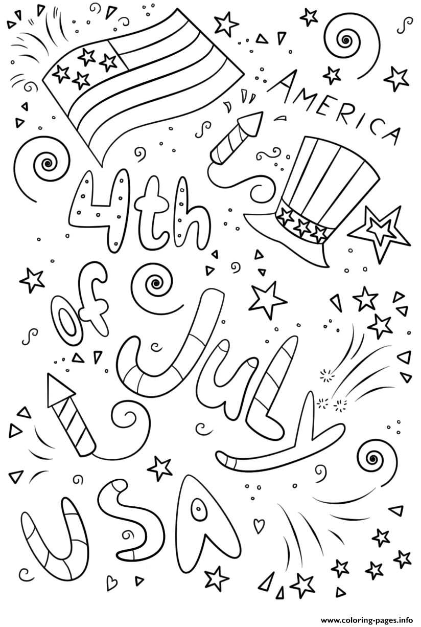 Printable coloring pages july 4th - Printable Coloring Pages July 4th 85