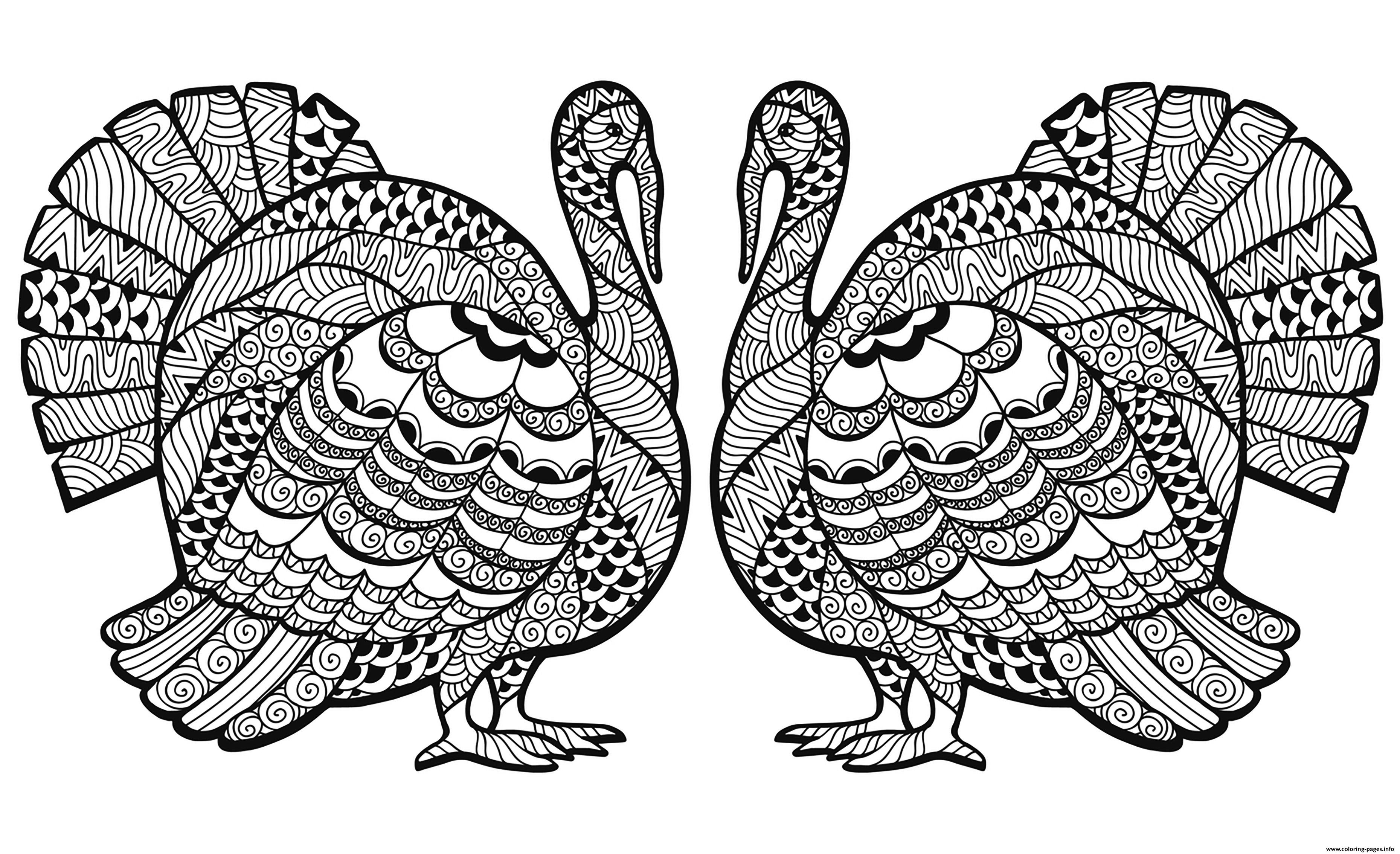 Thanksgiving Adults Difficult Coloring Pages Print Download 60 Prints