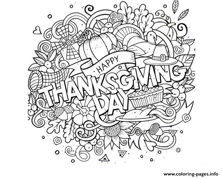 Happy Thanksgiving Day Activities Coloring Pages Printable