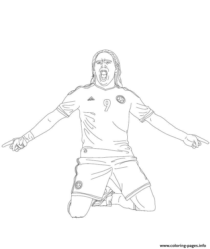 Radamel Falcao Soccer coloring pages