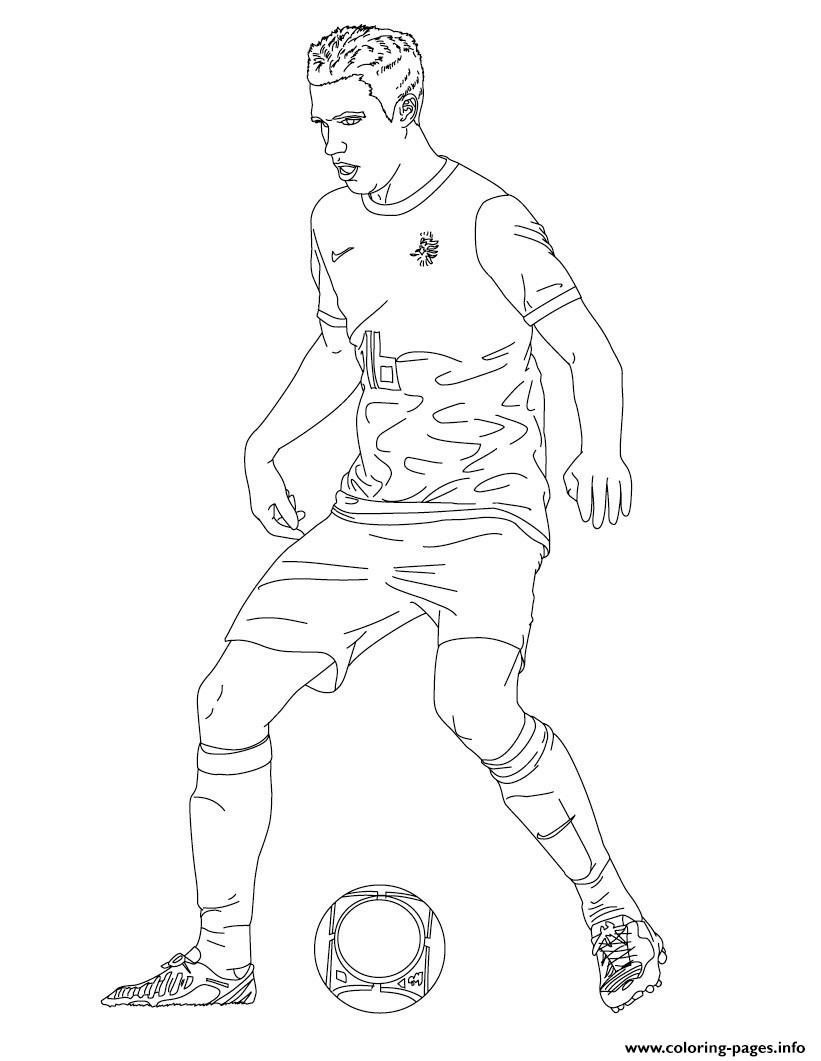 Robin Van Persie Soccer Coloring Pages Printable