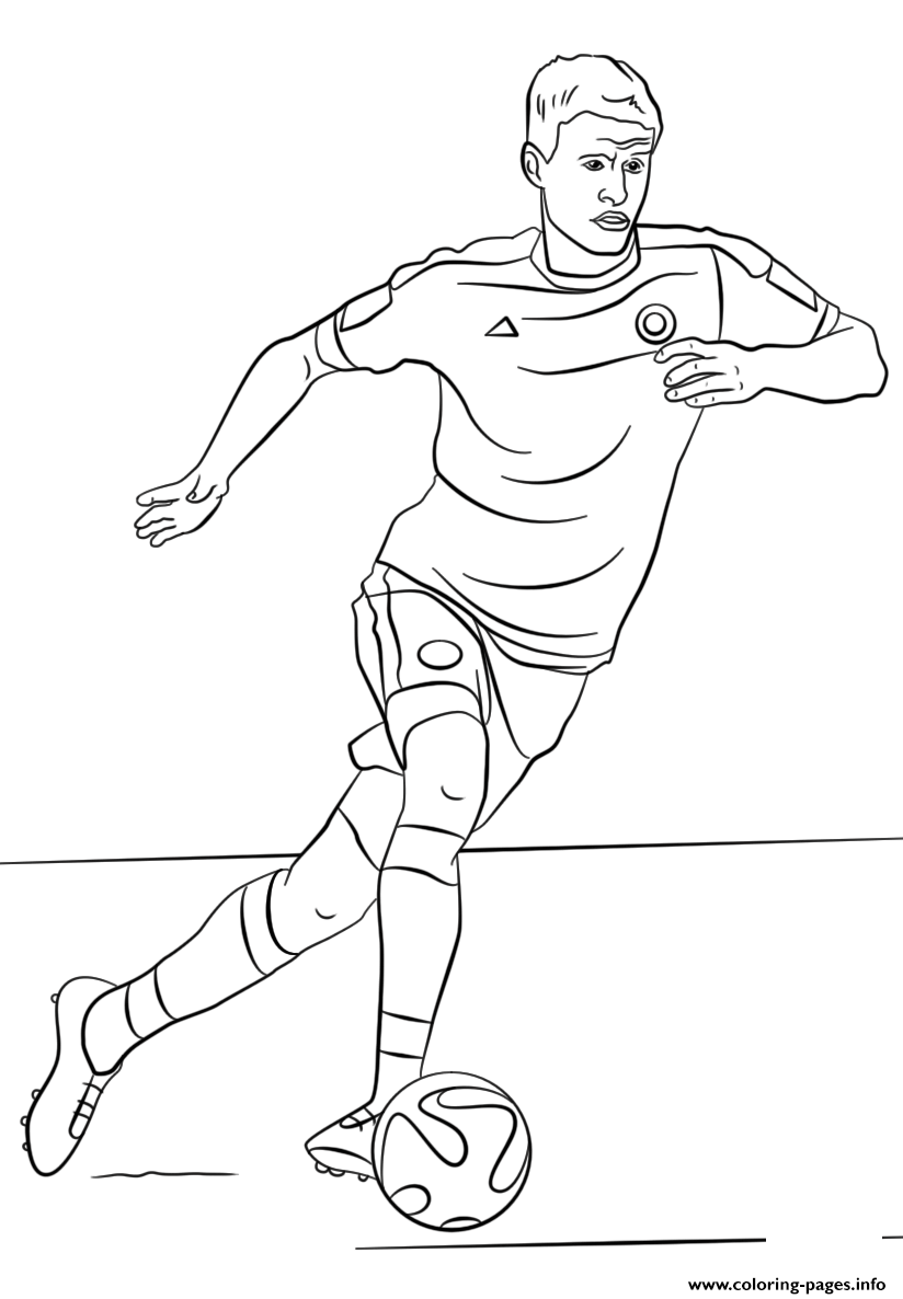 Thomas Muller Soccer coloring pages