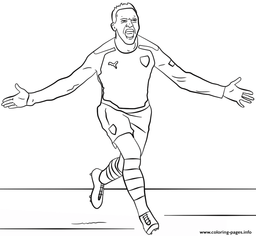 Alexis Sanchez Soccer Coloring Pages Printable