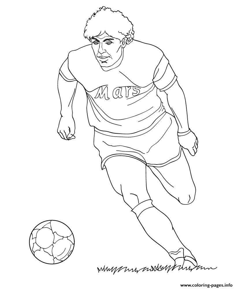 Diego Maradona Soccer Coloring Pages Printable