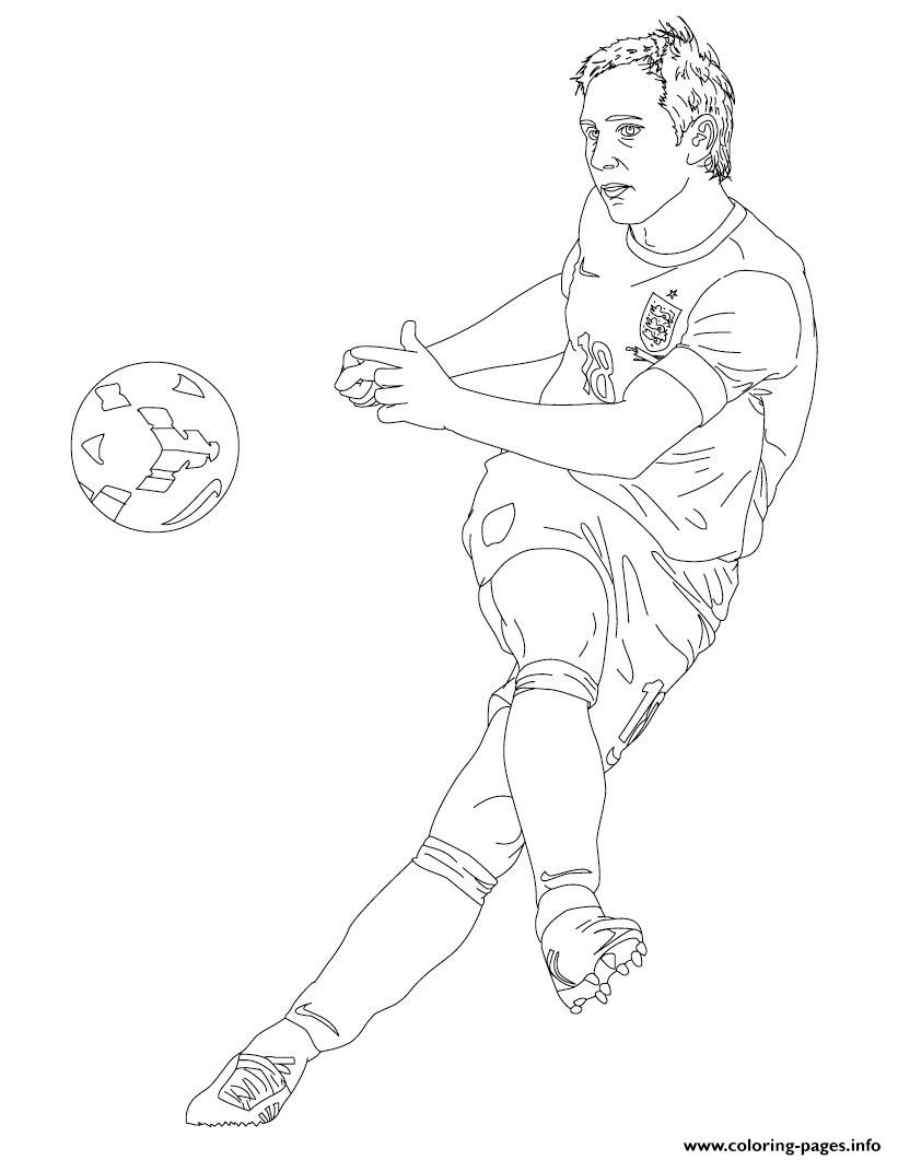 Frank Lampard Soccer coloring pages