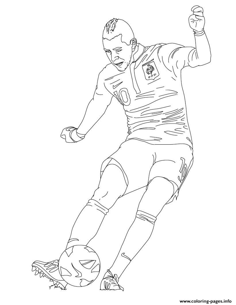 Karim Benzema France Soccer coloring pages