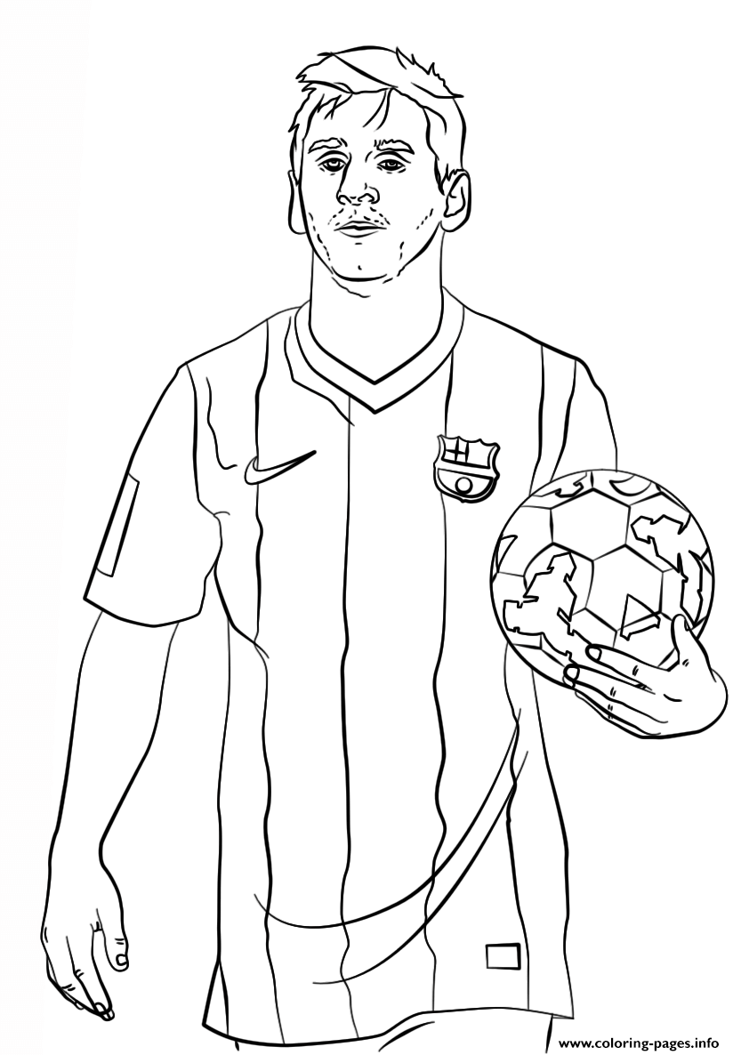 Good Lionel Messi Soccer Coloring Pages