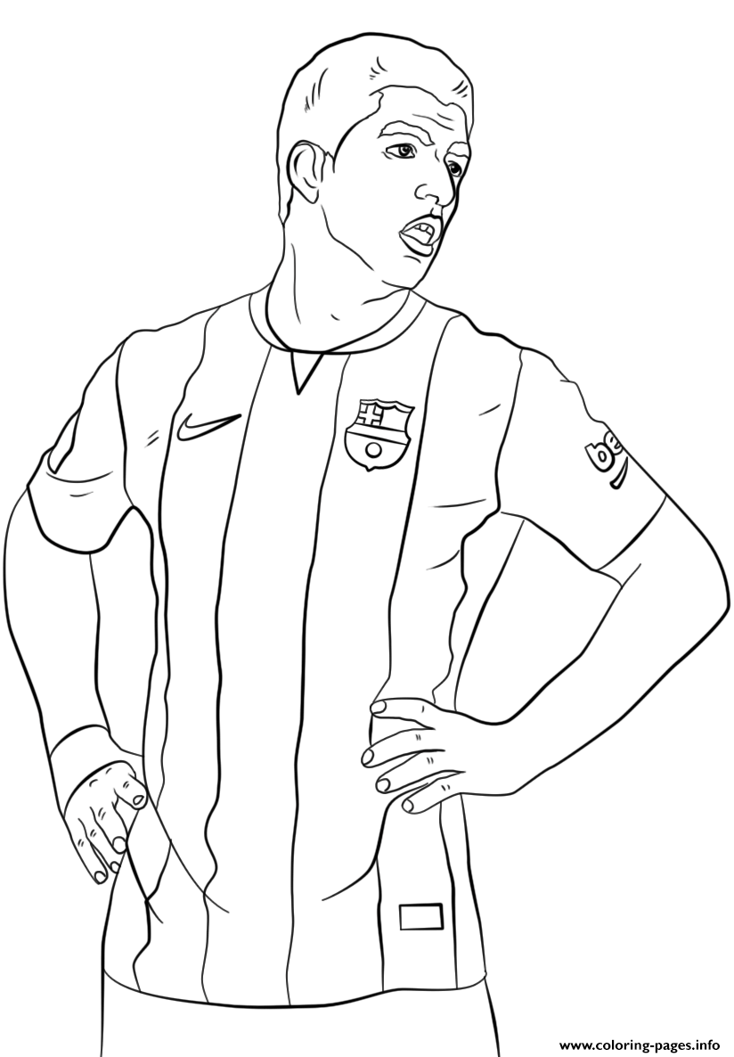 Luis Suarez Soccer Coloring Pages Printable