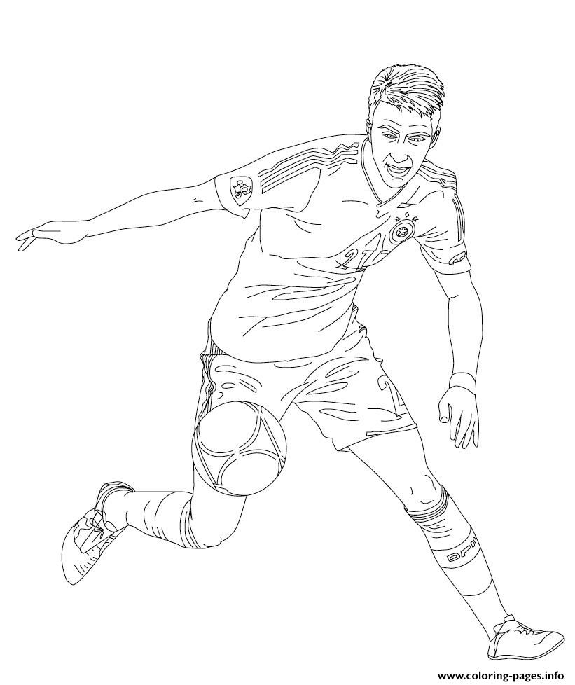 Marco Reus Soccer coloring pages