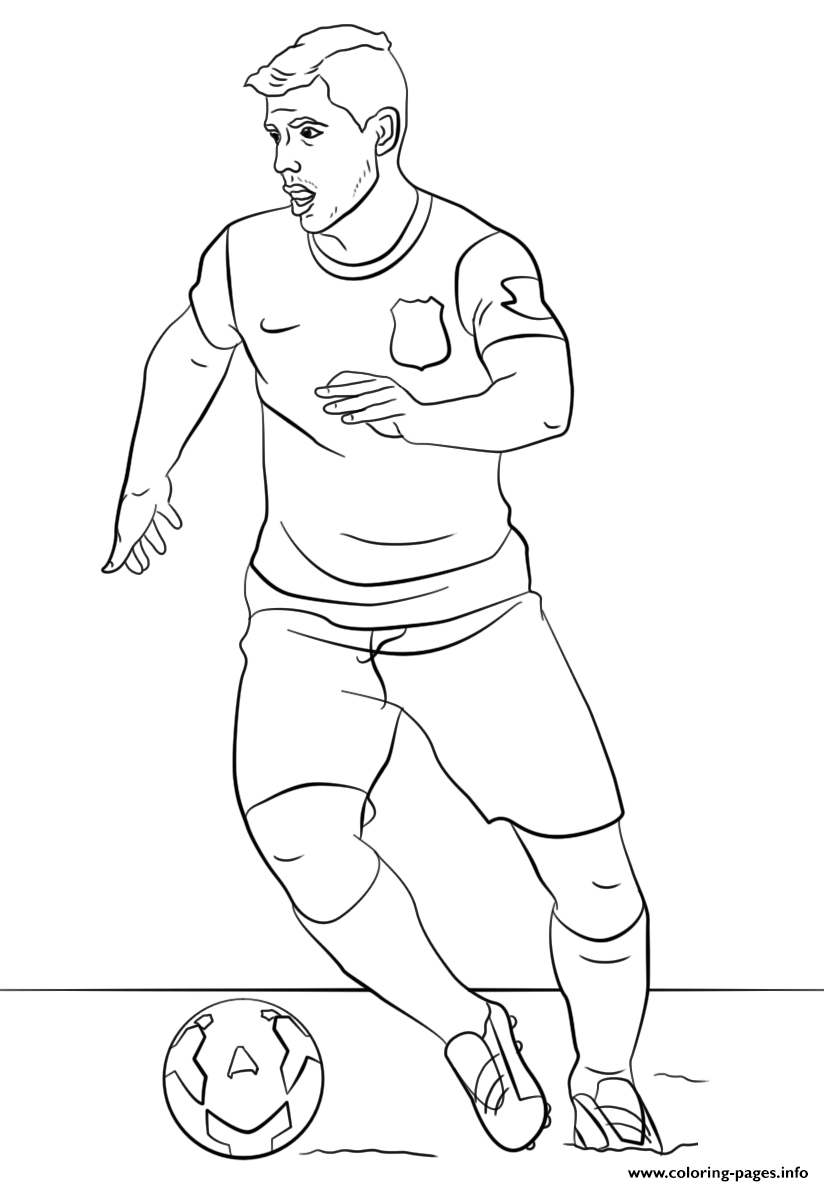 Sergio Aguero Soccer Coloring Pages Printable