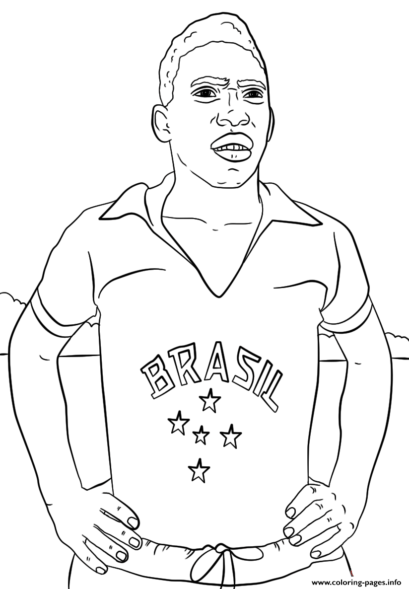 Pele Soccer coloring pages