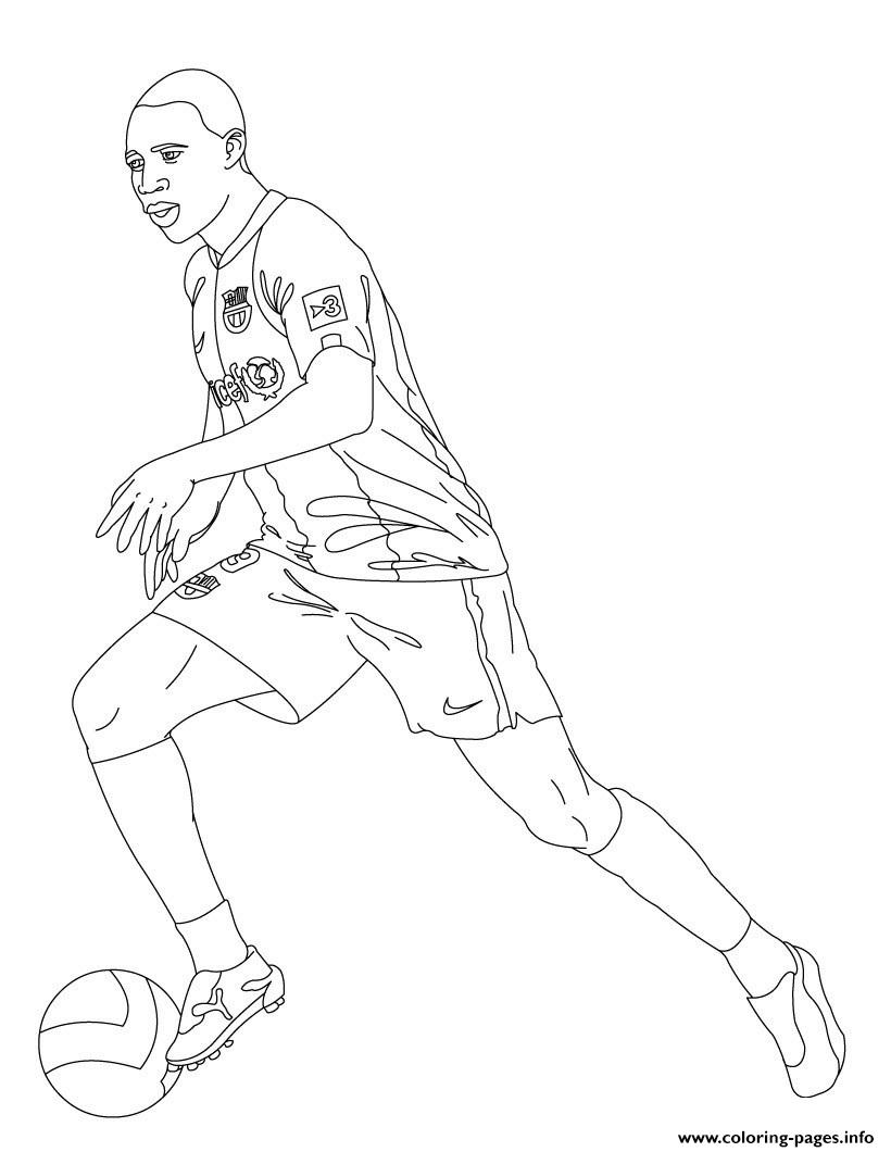 Samuel Etoo Soccer coloring pages