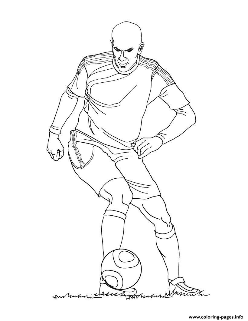 Zinedine Zidane France Soccer coloring pages