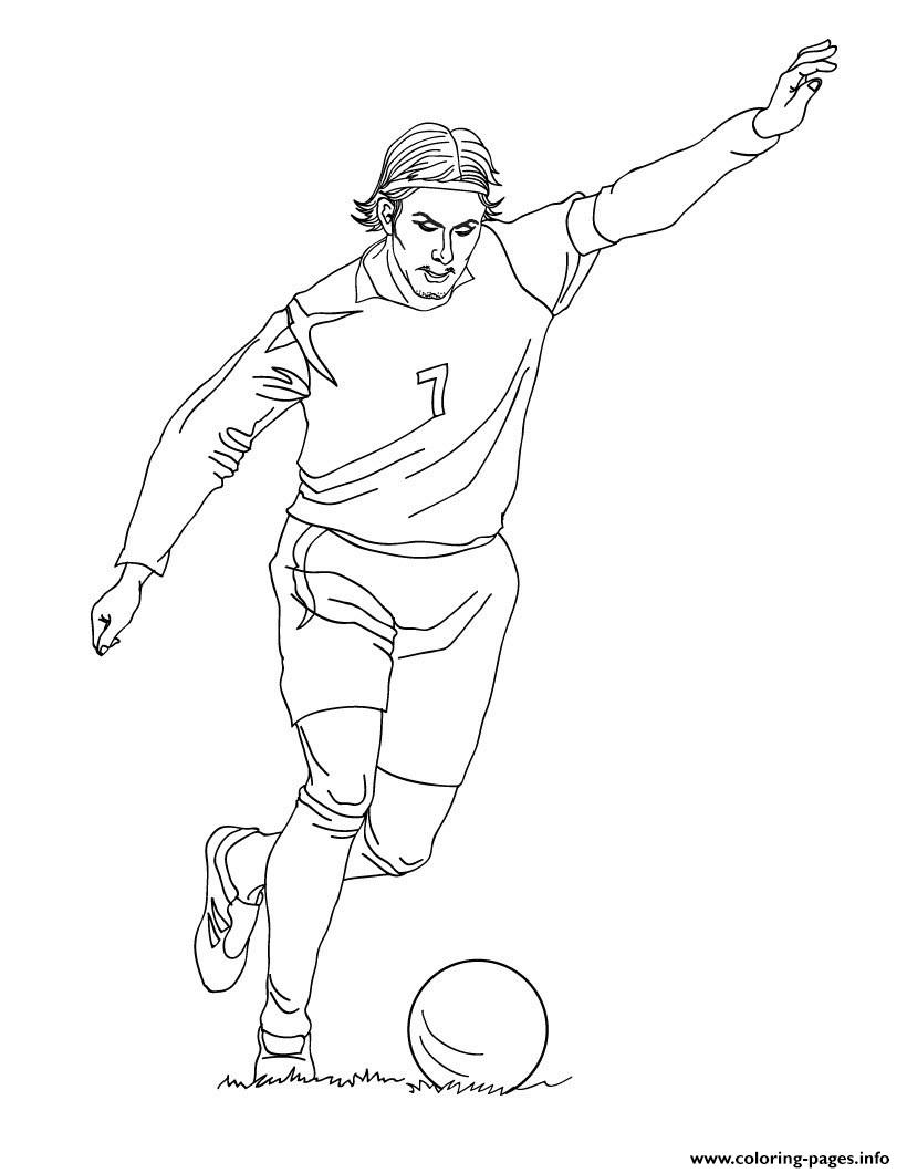 David Beckham Soccer coloring pages