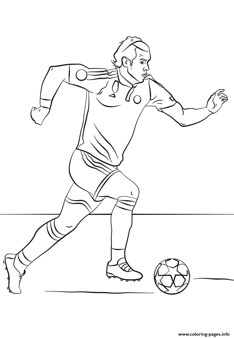 Gareth Bale Soccer Coloring Pages Printable