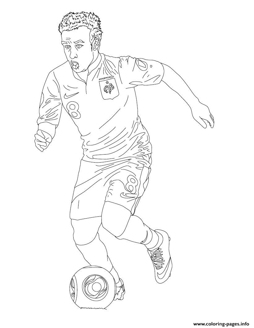 Matthieu Valbuena France Soccer coloring pages