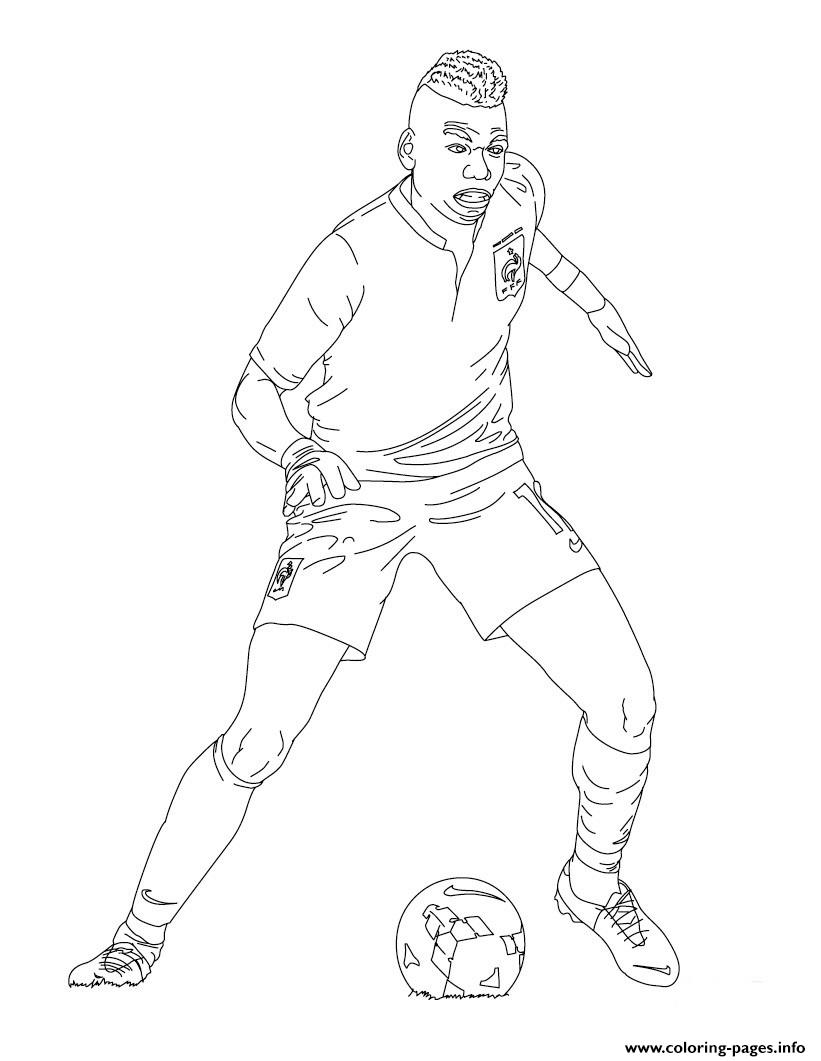 paul pogba france soccer coloring pages printable