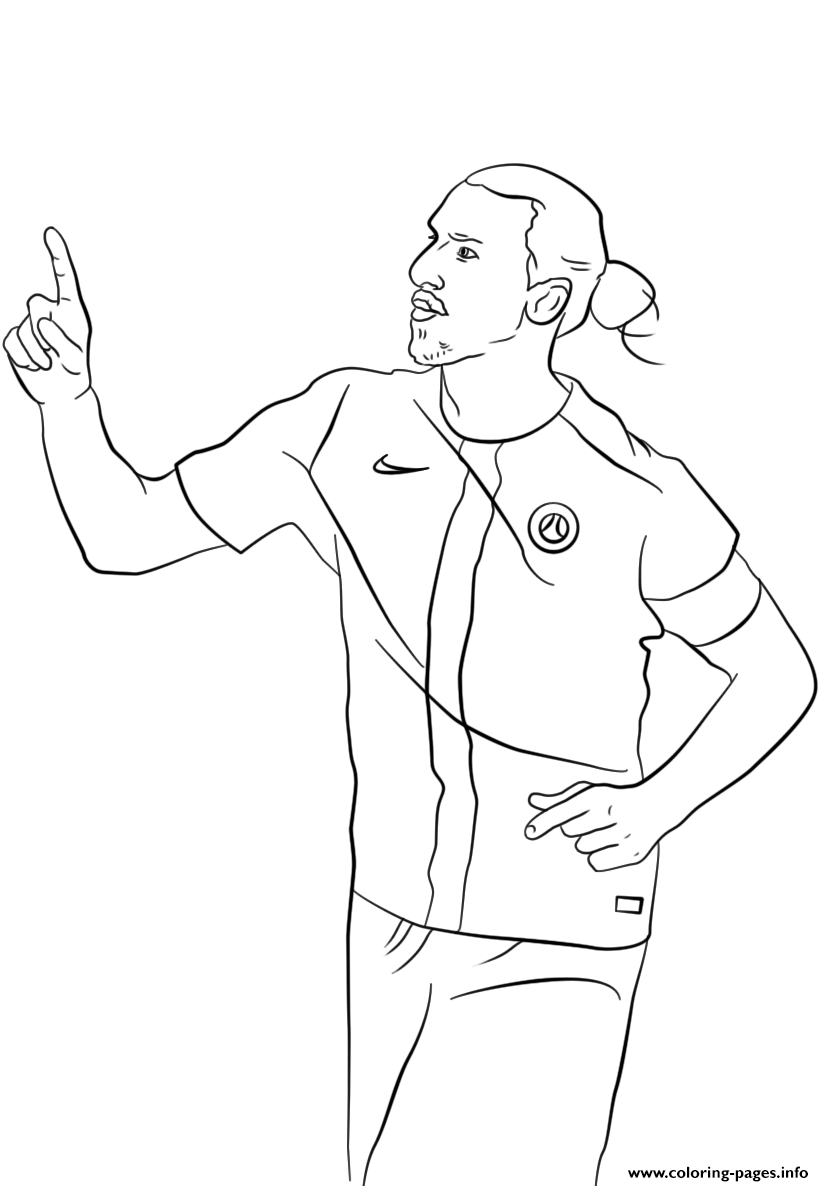 Zlatan Ibrahimovic Soccer coloring pages