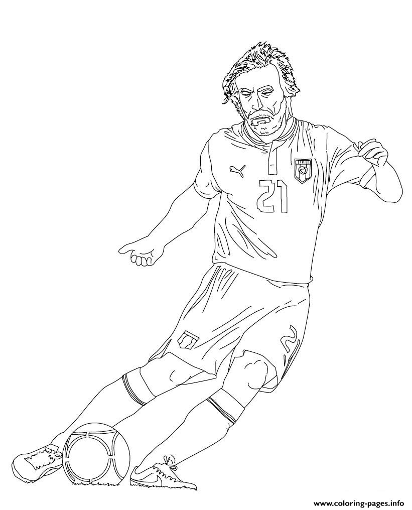Andrea Pirlo Soccer coloring pages