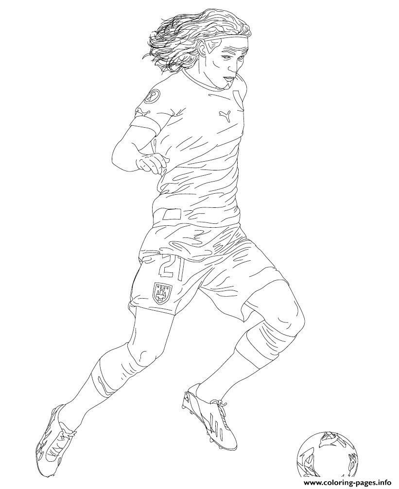 Edinson cavani soccer coloring pages printable - Coloriage foot psg ...