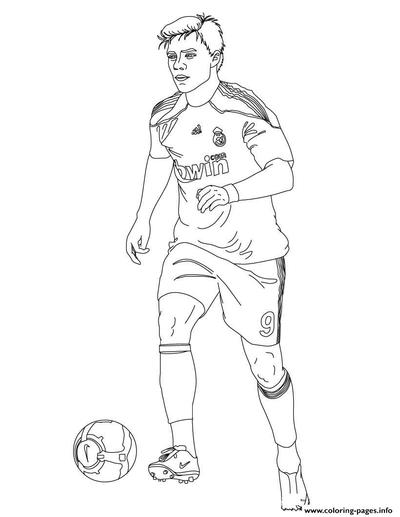 Football Xabi Real Madrid Soccer coloring pages