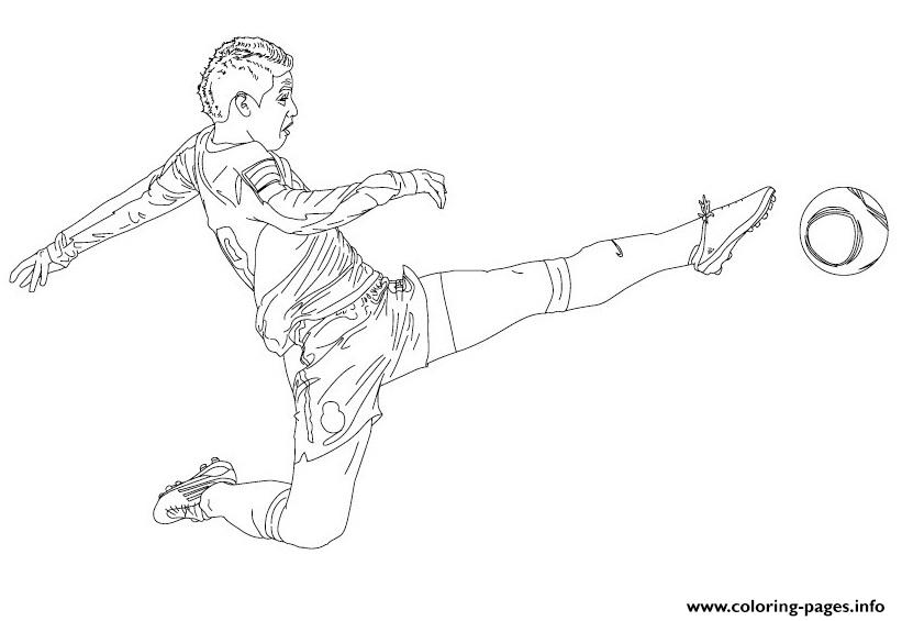 James Rodrigez Soccer Coloring Pages Printable