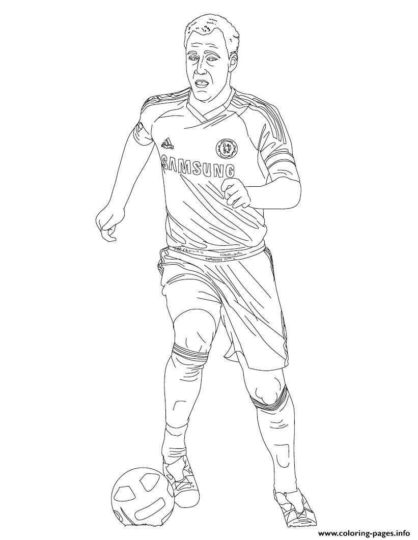 John Terry Soccer Coloring Pages Printable