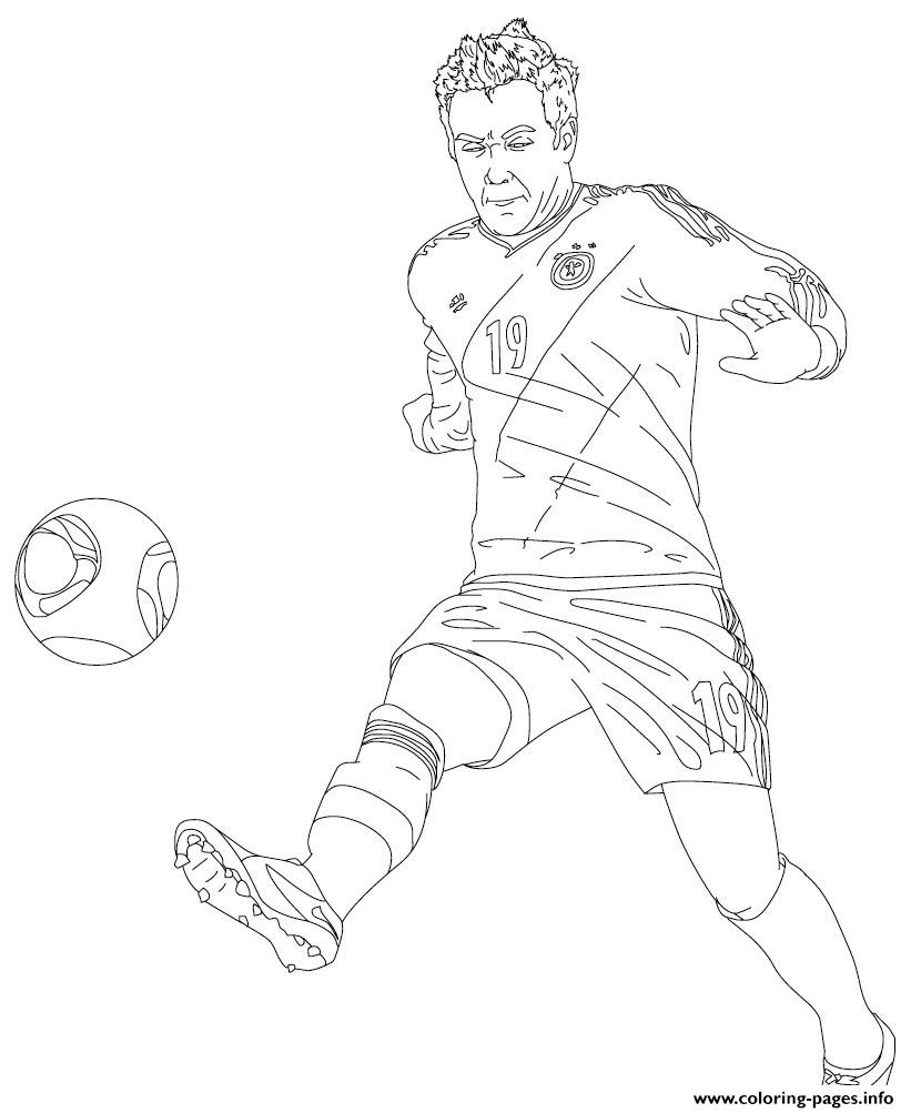 Mario Gotze Soccer coloring pages
