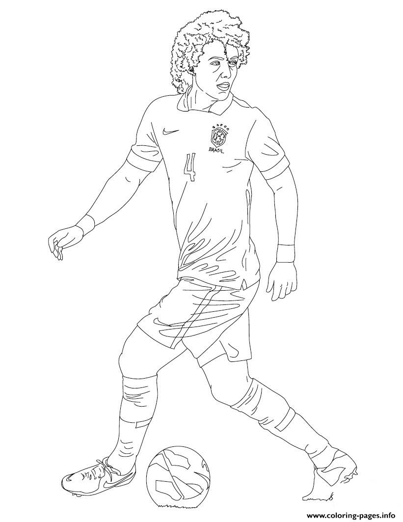 David Luiz Soccer coloring pages