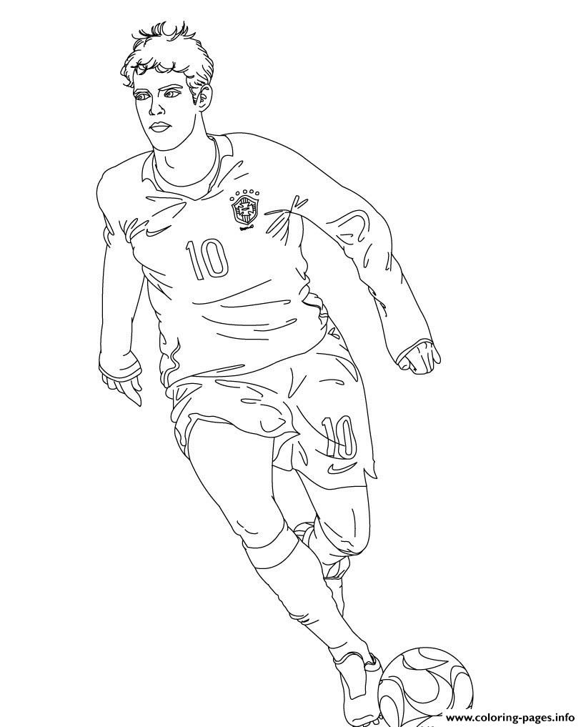 Kaka Bresil Soccer coloring pages
