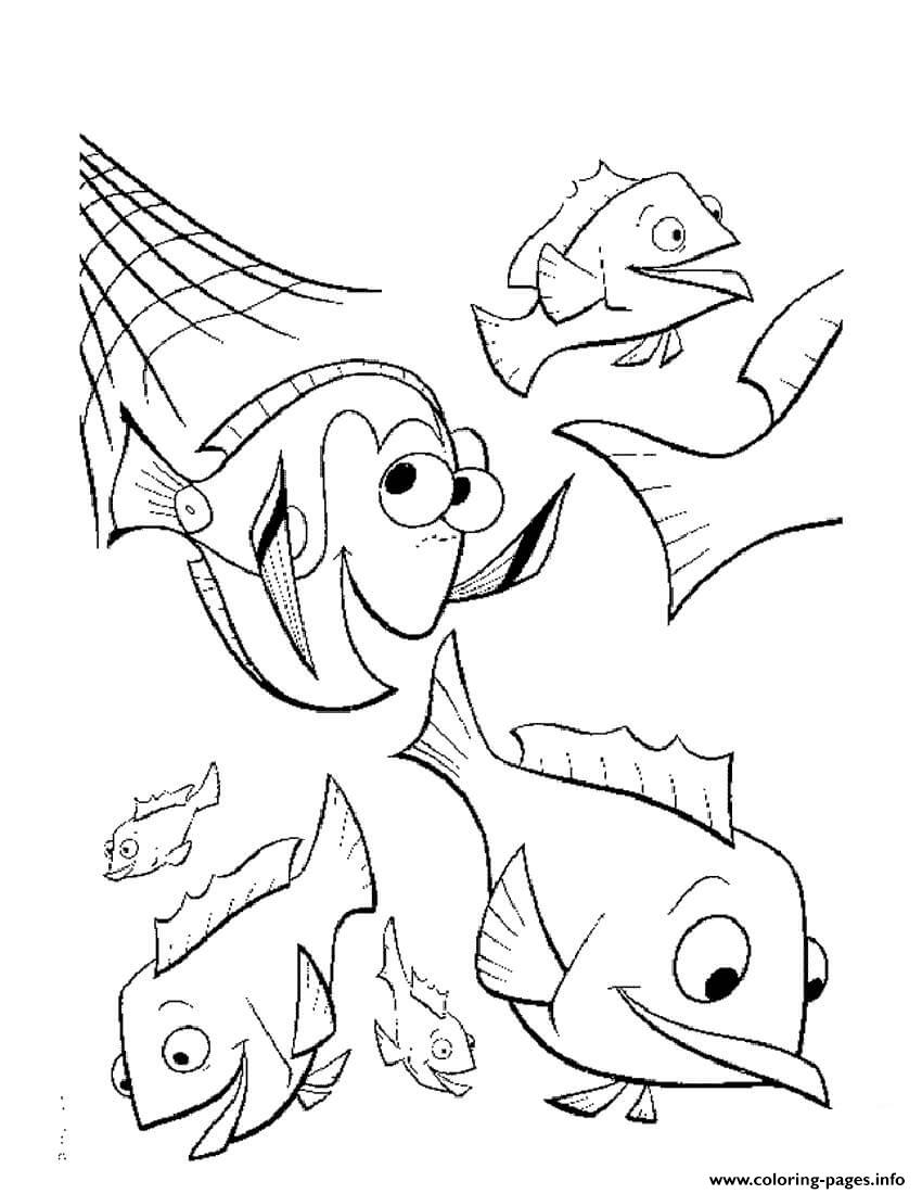 The Net Breaks Finding Nemo Coloring Pages Printable