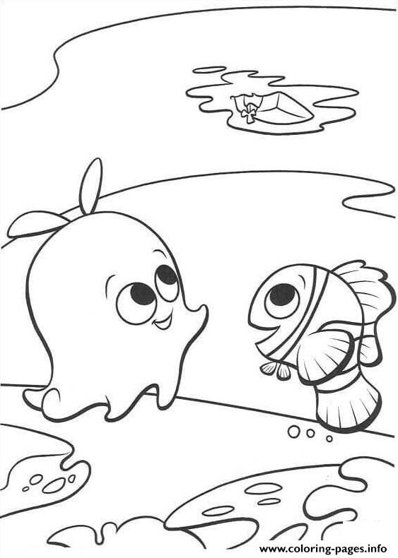 look at the boat finding nemo coloring pages