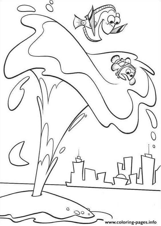Thank You Whale Finding Nemo coloring pages