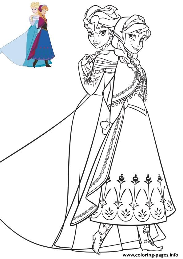 elsa and anna coloring pages games - anna and elsa beautiful dresses frozen coloring pages