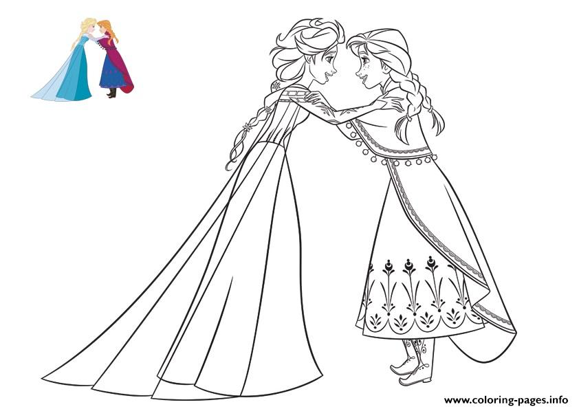 Anna Confides A Secret To Elsa Frozen coloring pages