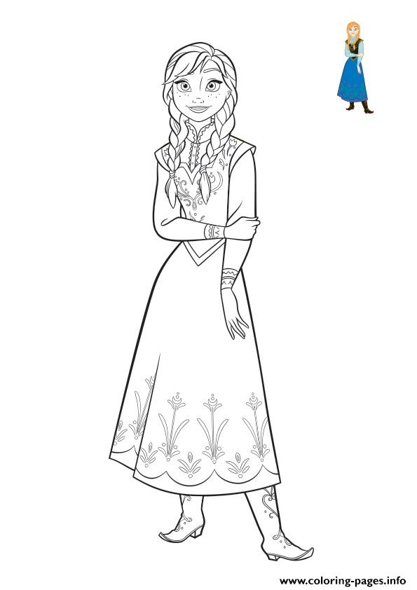Frozen Anna Coloring Book 2018 Pages