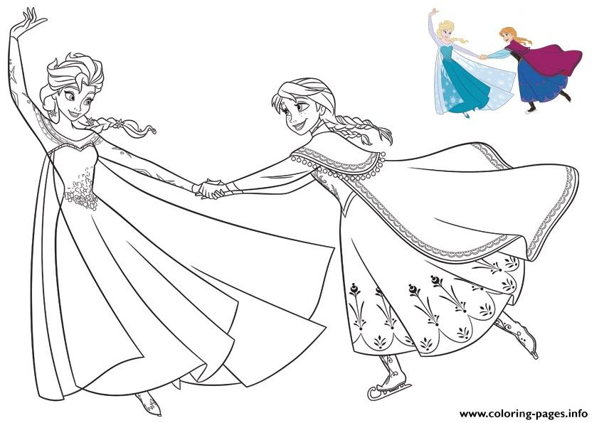 Having Fun With The Sister Frozen coloring pages