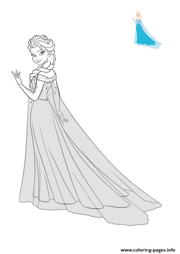 Sublime Elsa En Robe De Bal coloring pages