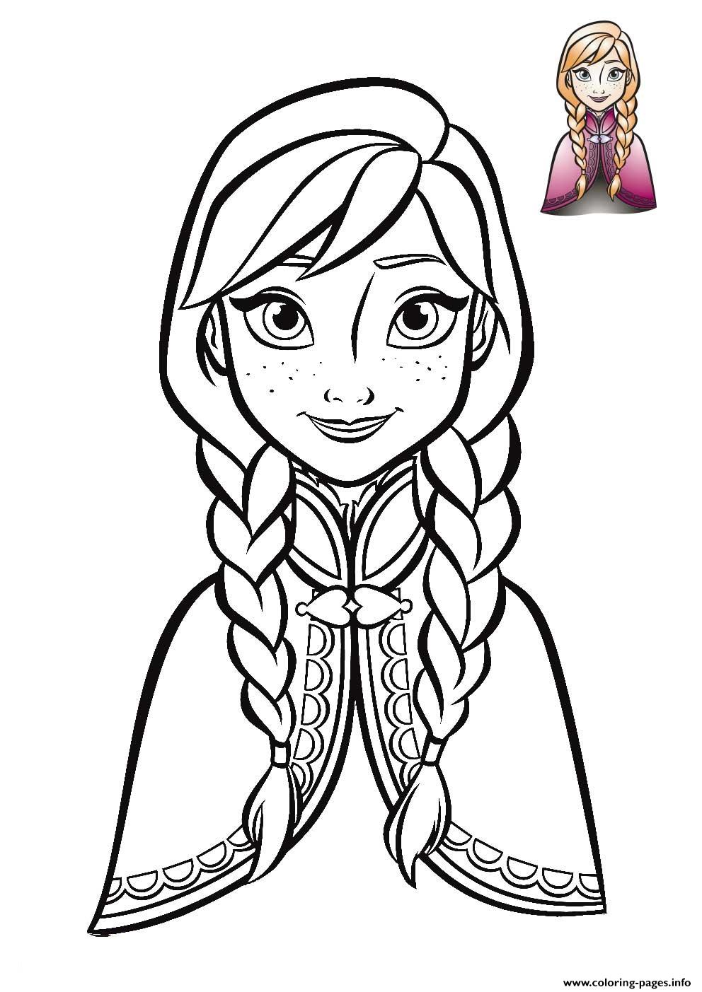 Anna Frozen Face 2018 coloring pages