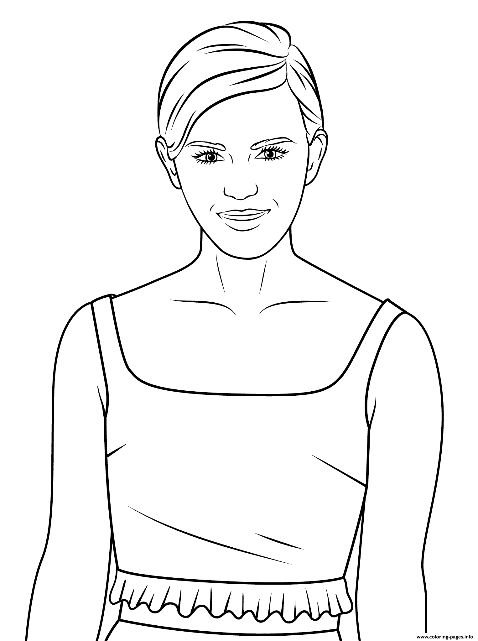 Emma Watson Celebrity Coloring Pages Printable