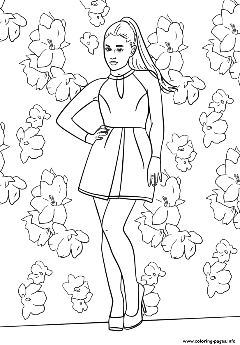 Ariana Grande Celebrity Coloring Pages Printable
